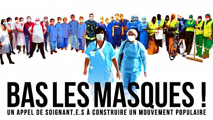 Oproep gezondheidswerkers in Frankrijk: Maskers Af!