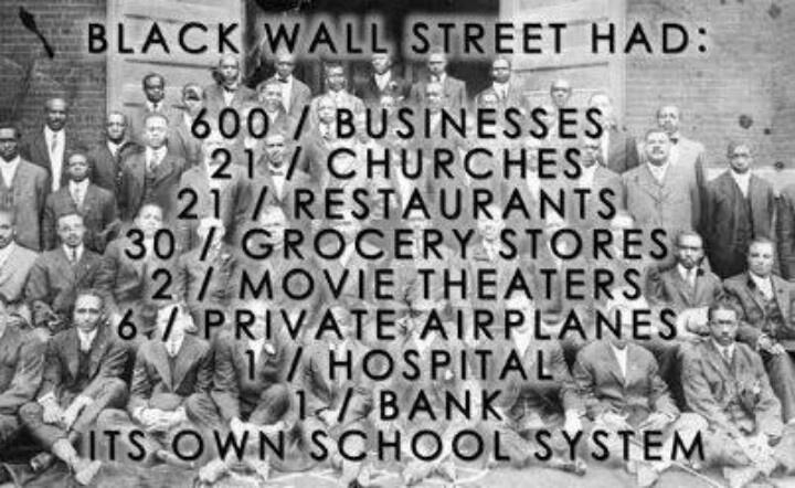 In 1921 brandde een blanke meute 'Black Wall Street' plat