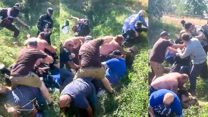 'Back the Blue'-leden slaan BLM-demonstranten in sloot Colorado:' Blijf elkaar in het gezicht slaan '