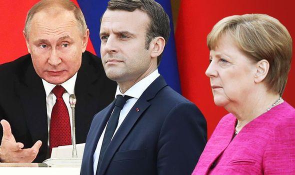 Terwijl de EU over sancties spreekt, waarschuwt Poetin Merkel en Macron buitenlandse inmenging in Wit-Russische zaken 'onaanvaardbaar', kan averechts werken