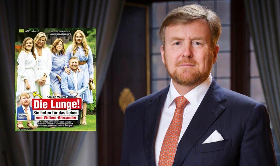 RVD: GEEN COMMENTAAR – Duitse media: 'Koning Willem-Alexander heeft ernstige longziekte'