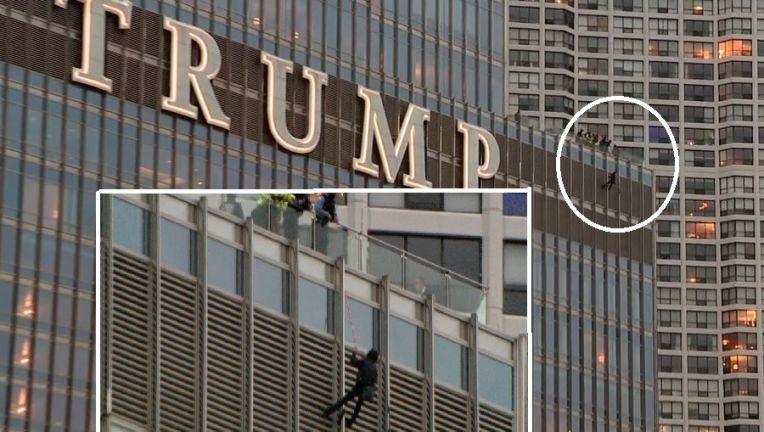 Man die gesprek met Trump wilde in hechtenis na meer dan 13 uur aan de zijkant van de Trump Tower te hebben gehangen
