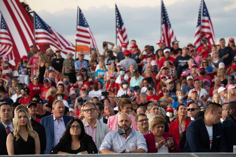 Studie: Trump-rally's zijn mogelijk verantwoordelijk voor naar schatting 700 Covid-19-doden