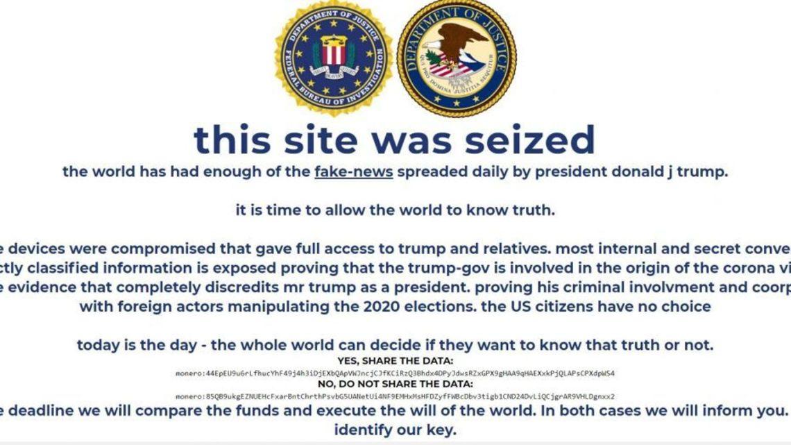 Trump-campagnewebsite gehackt in schijnbare cryptocurrency-zwendel