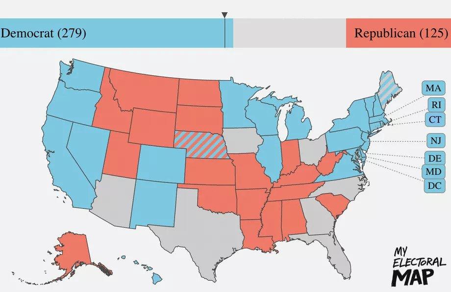 Waar Biden en Trump staan in de laatste peilingen voor de presidentsverkiezingen