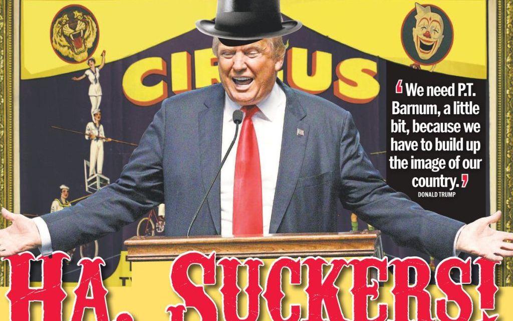 Stap regelrecht in het afzettingscircus van Trump