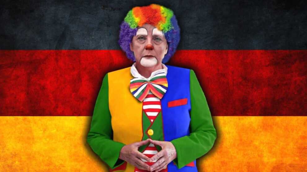 De tirannie van de Merkel-clown