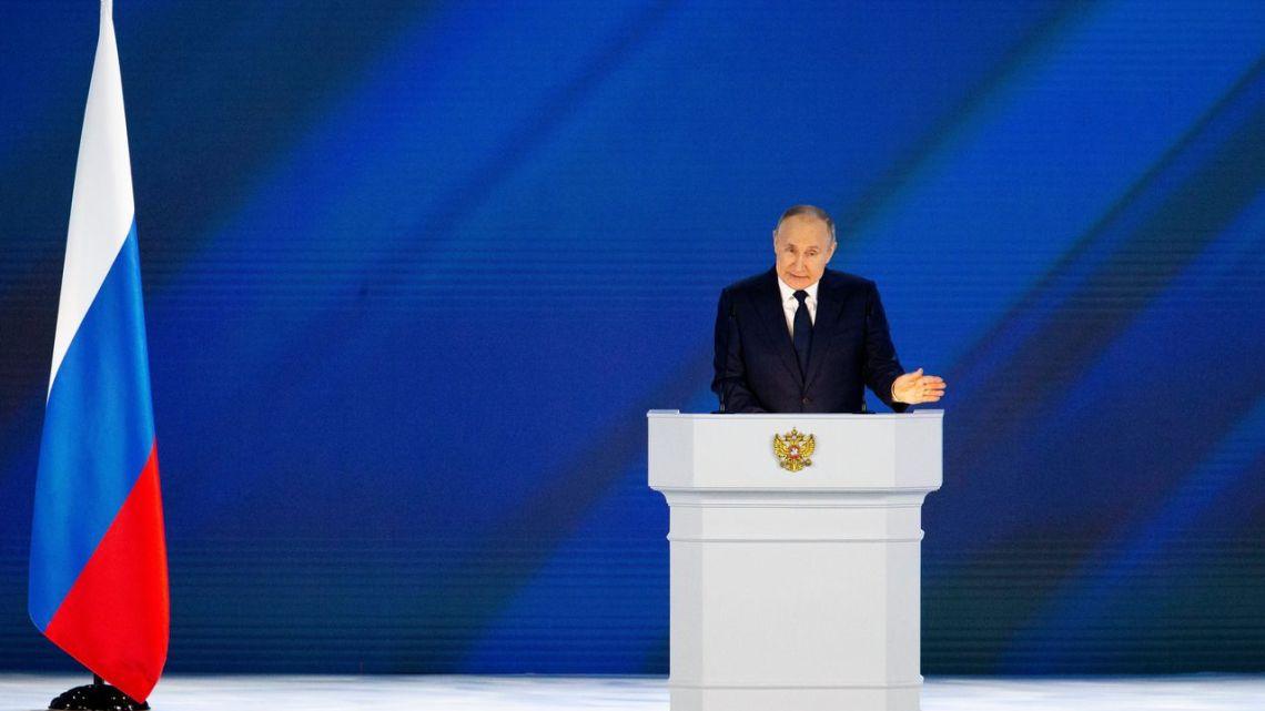 De toespraak van Poetin tot het Russische parlement, afgelopen week, veroorzaakte paniek in het westen.