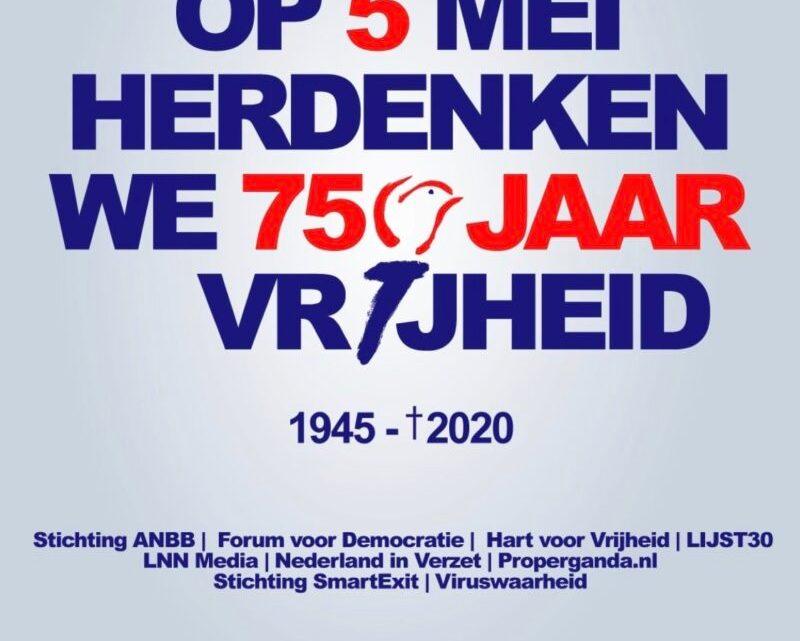 Enorme ophef over een poster van 'Forum' over vijfenzeventig jaar 'Bevrijding'.