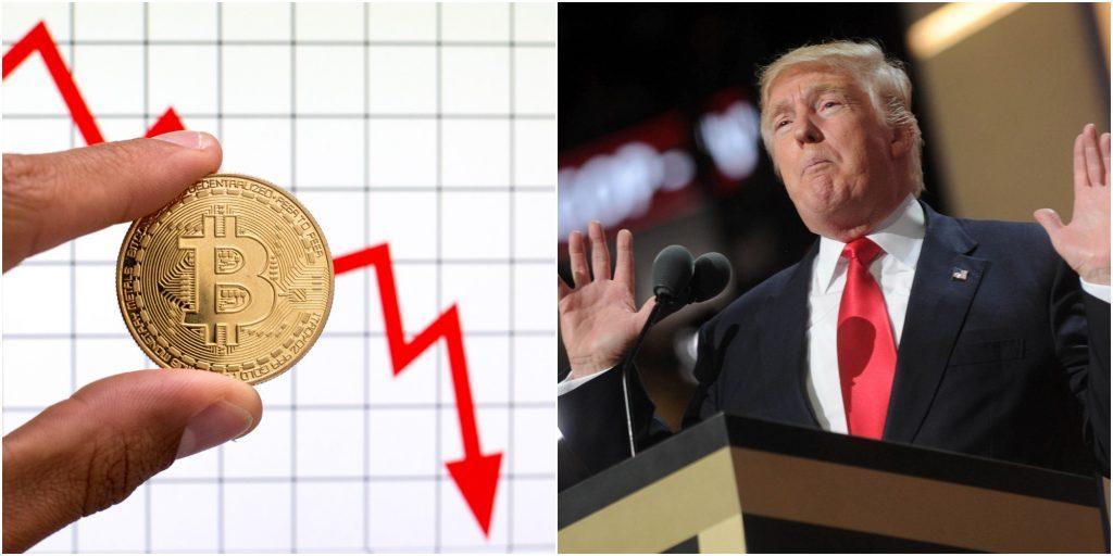 Koers Bitcoin zakt nadat Trump de cryptomunt 'oplichterij' noemt