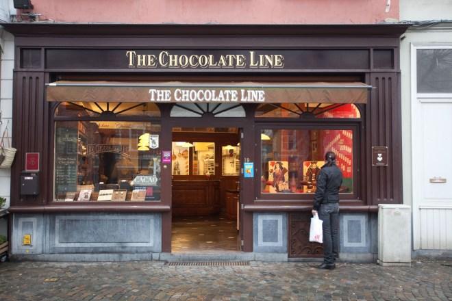 Schokolade zum Koksen, Brügge, The Chocolate Line