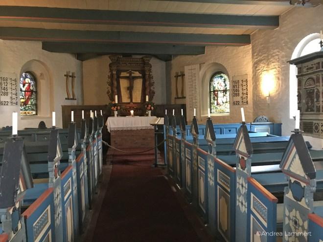 Hanswarft auf der Hallig Hooge in der Nordsee, Kirche St. Johannis von innen