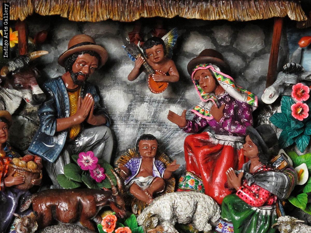 Nacimiento Campesino Peasant Nativity Retablo Indigo Arts