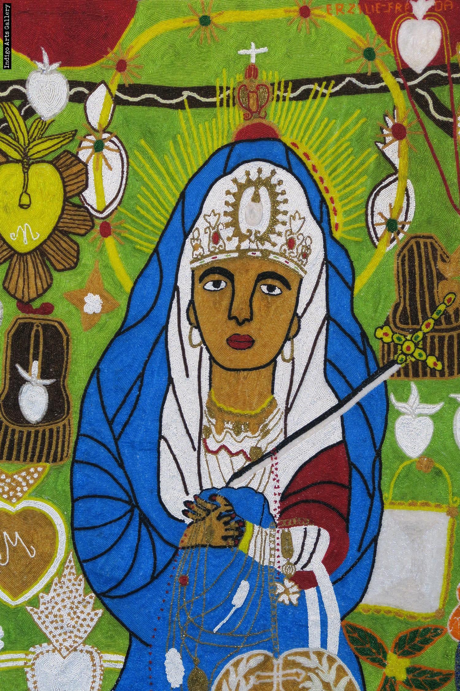 Erzulie Freda Lady Of Sorrows Vodou Flag Indigo Arts