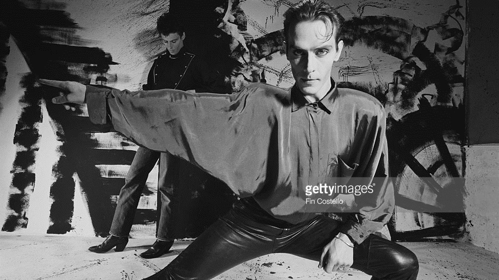 Peter Murphy and Howard Hughes from the Should the World Fail to Fall Apart photo session in 1986