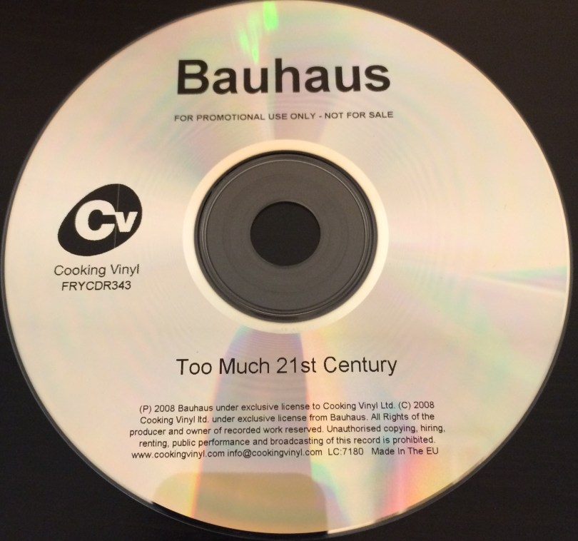 Bauhaus Too Much 21st Century UK Promo 2008 CD
