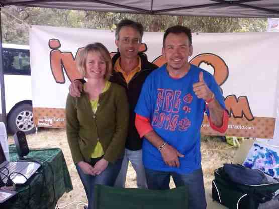 Birgit and Mike were proud winners of our 2014 Radiothon's major prize - a double pass to Eldorado's Festival of Folk Rhythm and Life, Pictured here with Scott (right)