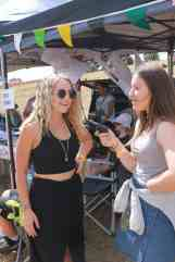 Two Rising Stars - Liv Cartledge (left) chats with Leah (right) at BMF 2016