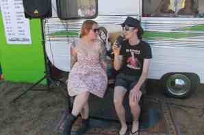 Lucy from The Sugarcanes chats with Shaun at BMF 2016