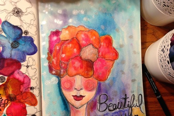 She Blossomed Watercolor Art