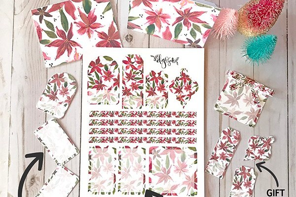 A free poinsettia printable download
