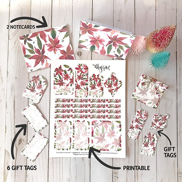 Free download poinsettia gift tags and notecards indigojade art free download poinsettia gift tags and notecards negle Image collections