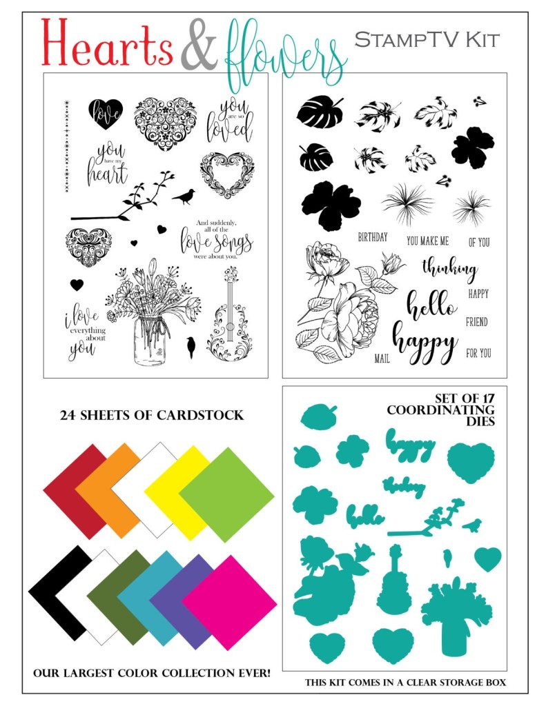 Hearts and Flowers StampTV Kit