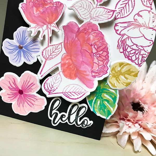 Gina K Designs Hello Floral Card with Details