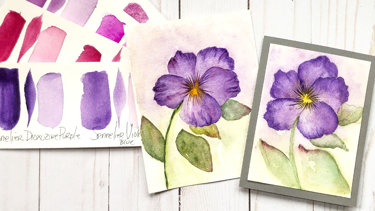 Viola Card Painting made into a card