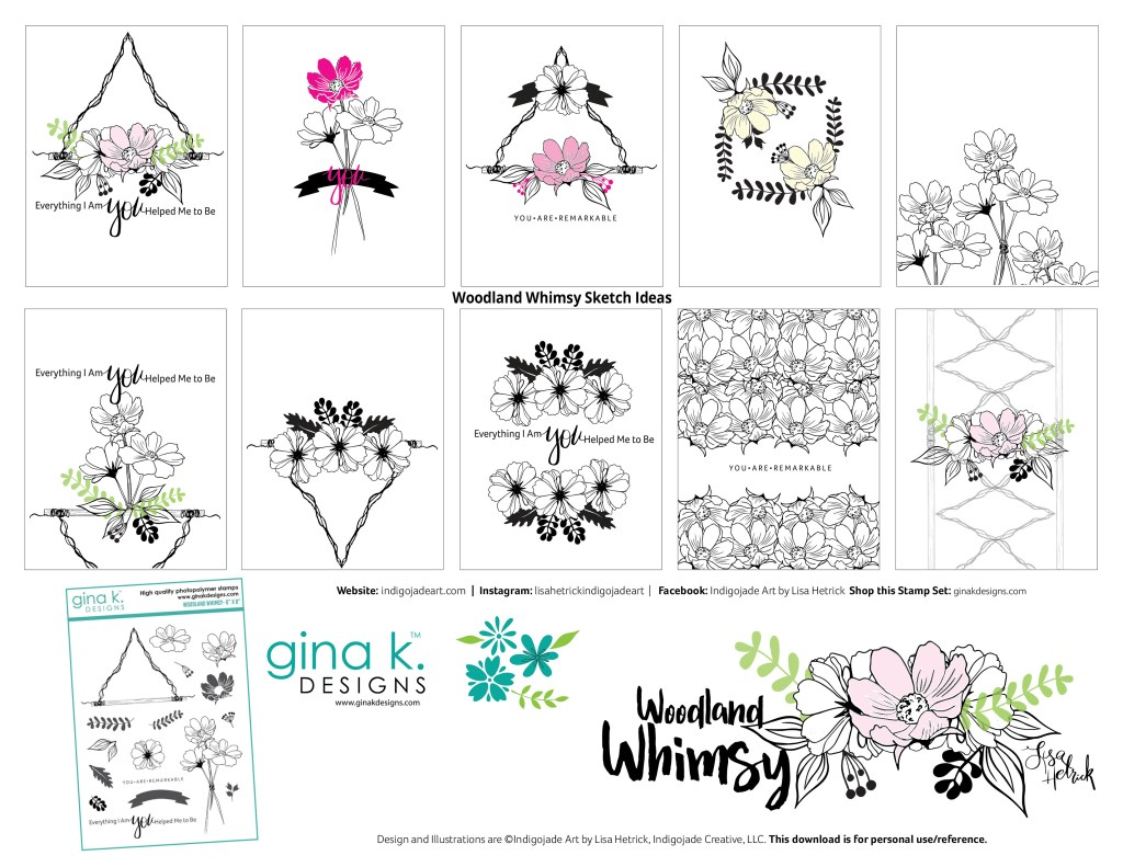 Woodland Whimsy Sketch Ideas