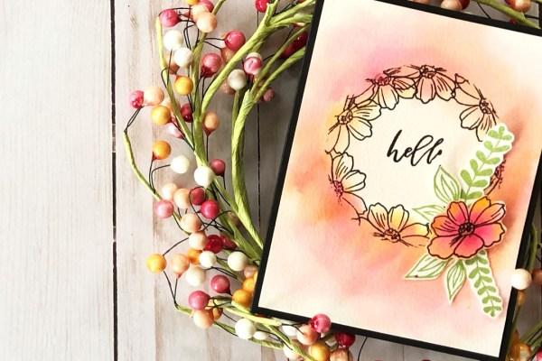 Card design using Woodland Whimsy stamp set