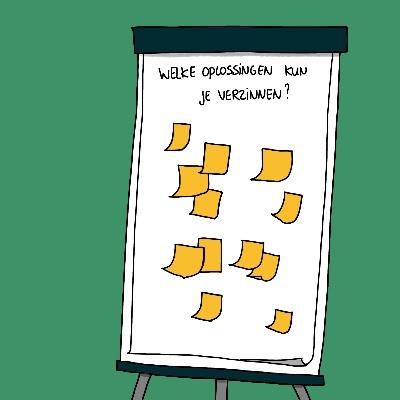 Betere beslissingen maken met team visueel template brainstorm