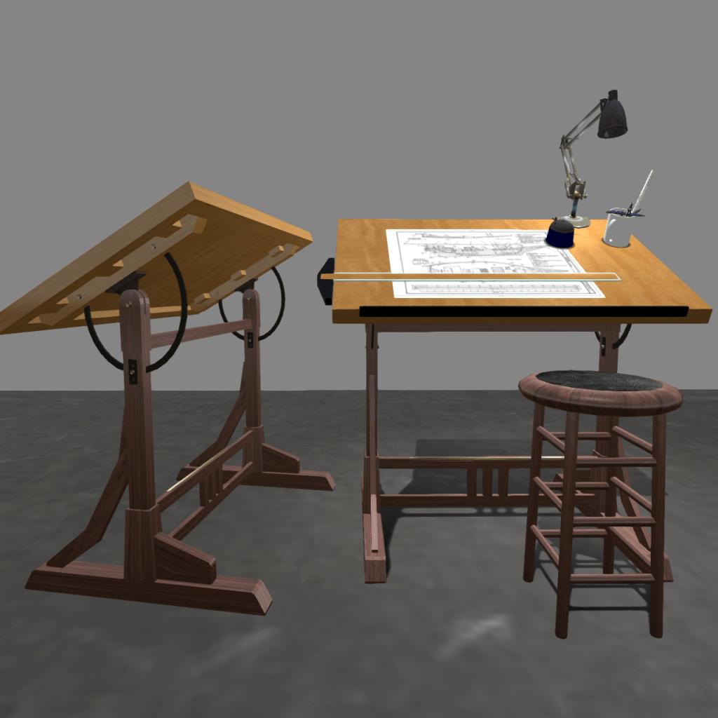 DIY Drafting Table Desk Plans