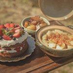 """<span class=""""title"""">🍚 . 朝ごはんは久しぶりに土鍋ご飯🍚🦐 筍と桜エビの炊き込みご飯でーす🌸  私のキャンプ始めて良かったことの1つは、 火でご飯を炊けるようになったこと!😌🍚  米 だいたい一合 昆布 適当 水 だいたい180cc だしの素 好き .. #キャンプアウトドアJP #フォトコン</span>"""