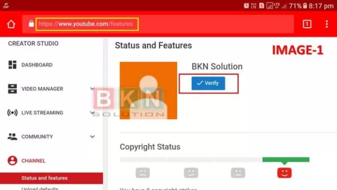 How to Verify YouTube Channel in Hindi