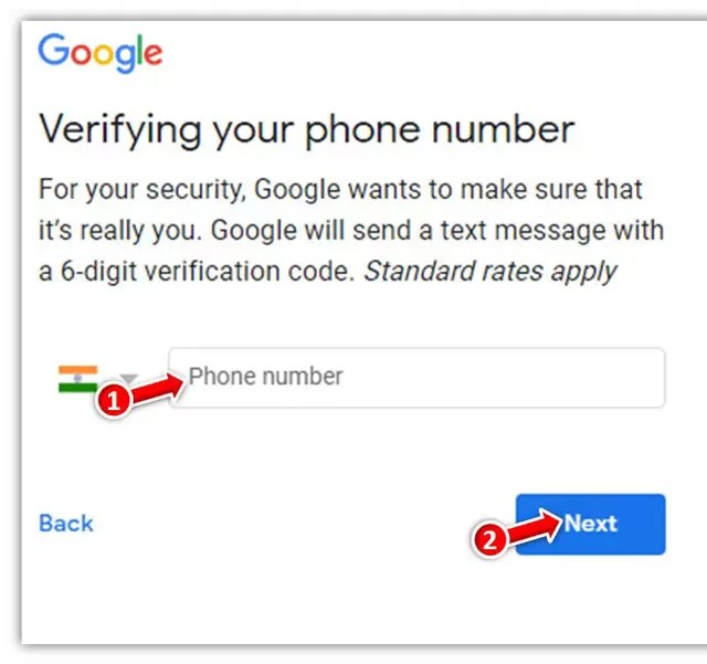 Verify your Phone number with Google to Make new Gmail ID on Gmail?