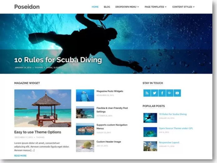 Poseidon theme for wordpress