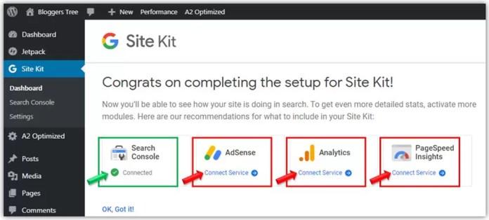 Google Search Console Setup Process in Site Kit Plugin in WordPress