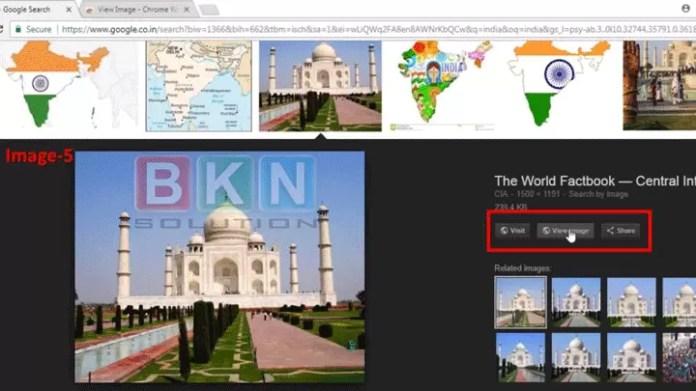 Google me view image wala option kaise vapas laye?