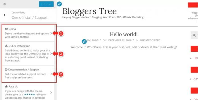 Demo content Steps in unos Magazine VU WordPress Site