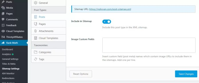 Sitemap Settings in Rank Math SEO WordPress Plugin