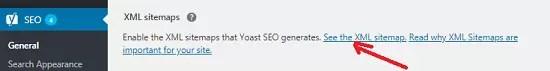 Sitemap in Yoast SEO WordPress Plugin