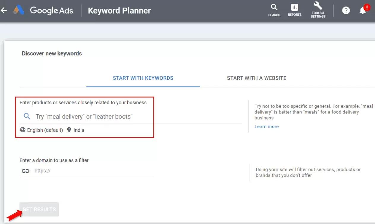 Keyword Research in Google Keyword Planner