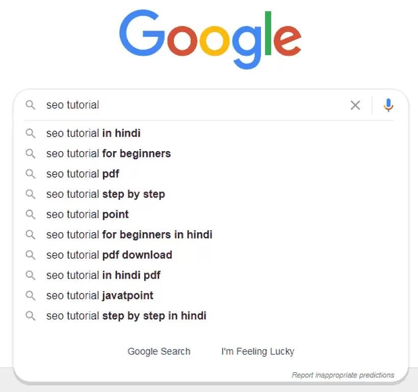 Google AutoComplete Keyword Research Tool