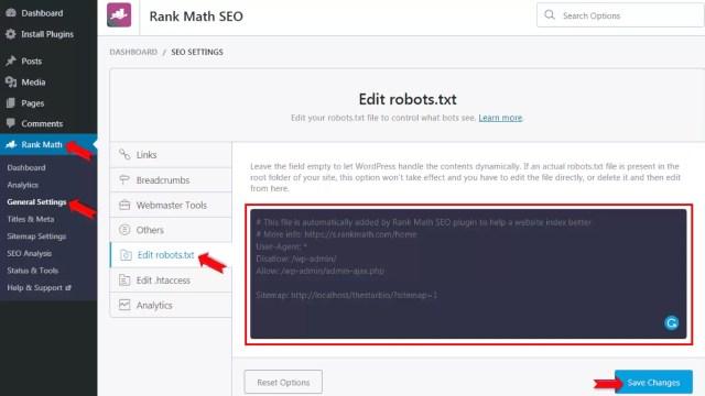 How to Create Robots.txt File using Rank Math Plugin in Hindi