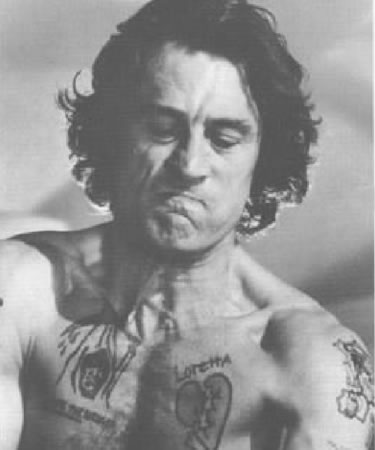 Robert De Niro Cape Fear Tattoos