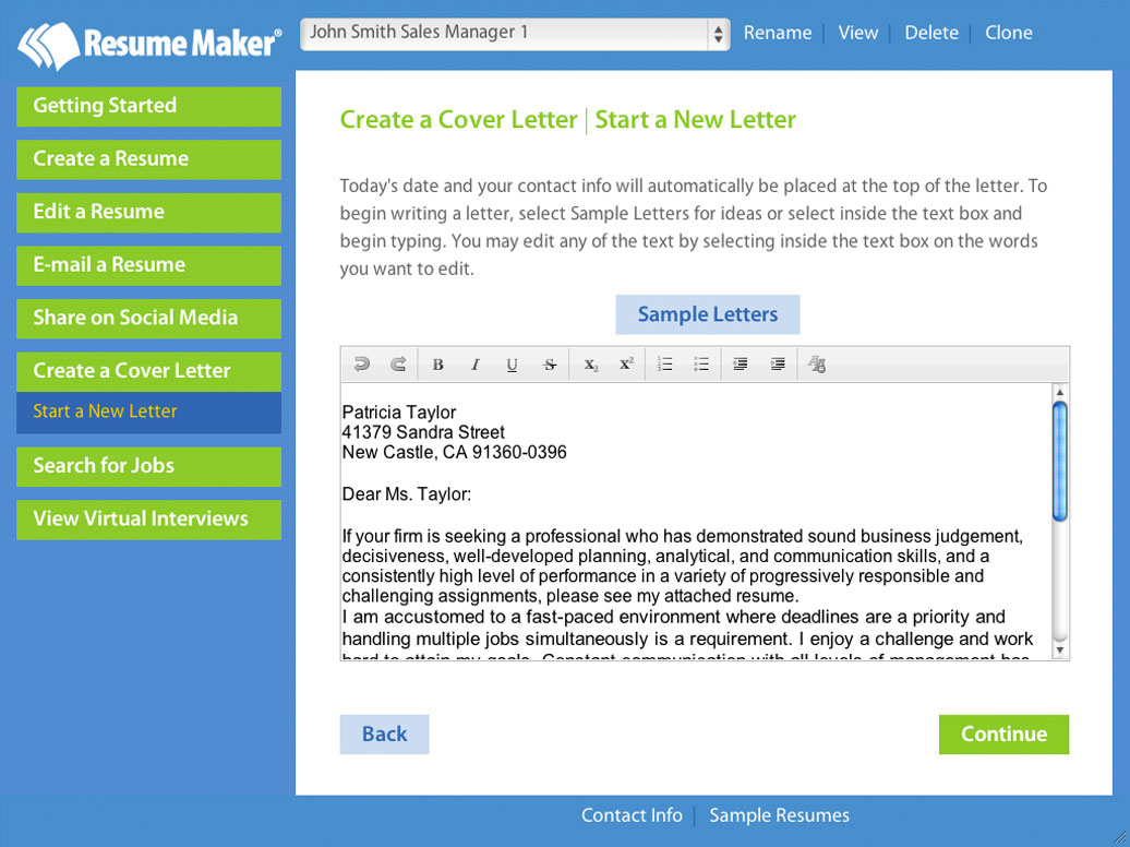 Resume Online Maker Write A Better Resume Resume Maker Individual Software