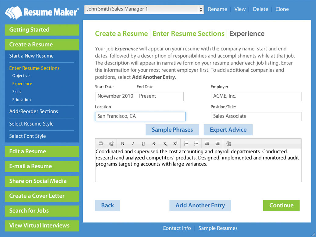 Resume Makers Write A Better Resume Resume Maker Individual Software