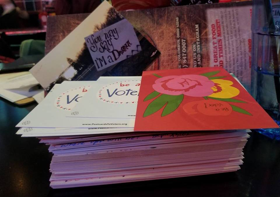 Indivisible OH12 April Postcard Party and Happy Hour