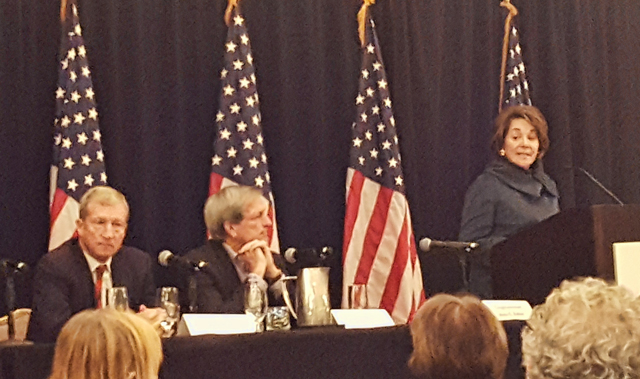 Ultimate Women's Luncheon panel: Reps Anna Eshoo and Mark DeSaulnier, and Tom Steyer